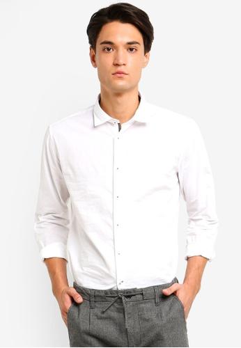 ESPRIT 白色 長袖襯衫 C8BFAAAA9BF380GS_1