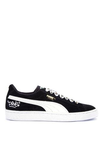 Puma black and multi Minions Suede Jr AE18ASH81E6266GS_1