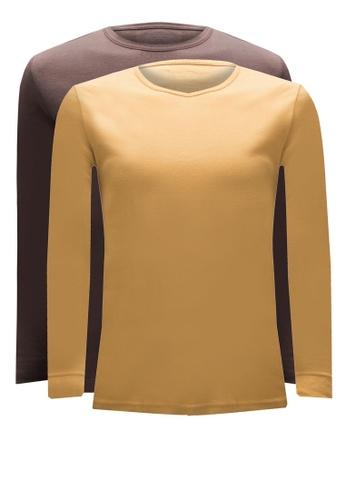 Nukleus yellow and brown Ha Noi Tee 2 Pack (Long Sleeve) F65B6AAB29B0B0GS_1