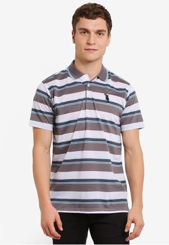 BGM POLO grey Printed Polo Shirt BG646AA0S0K3MY_1