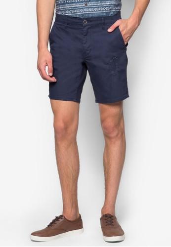 Claremont 刷esprit台灣網頁破斜布短褲, 服飾, 短褲
