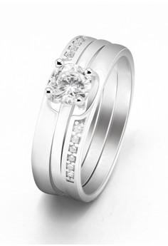 Kynda Diamond Layer K2774 Italy 925 Silver Ring
