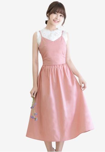 Tokichoi pink Slit Cutout Tie Back Dress 2605FAAE24FB52GS_1