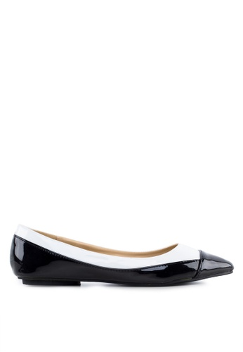 Ballerinas by s:w:k black Holly Toecap Flats BA825SH55WKESG_1