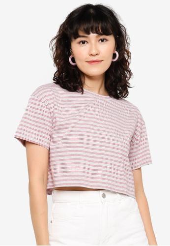 Urban Revivo grey Drop-Shoulder Sleeve Cotton T-Shirt D587FAA777FC4EGS_1