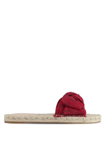Mango red Knot Flat Sandal 3239FSH9F02F0EGS_1