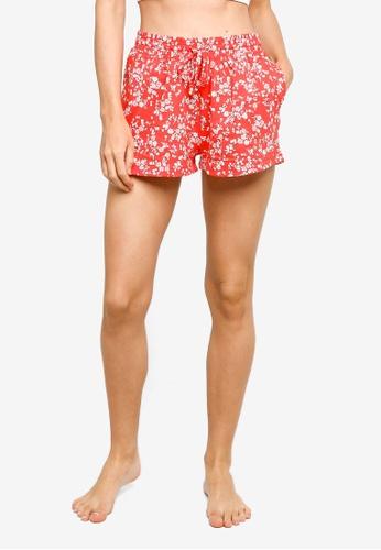 Cotton On Body red Jersey Sleep Shorts ED862AA5536432GS_1
