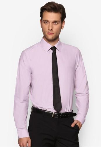 修身條紋長袖襯衫、 服飾、 服飾BurtonMenswearLondon修身條紋長袖襯衫最新折價
