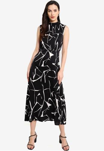 ZALORA WORK multi High Neck Sleeveless Dress 95883AA9497554GS_1
