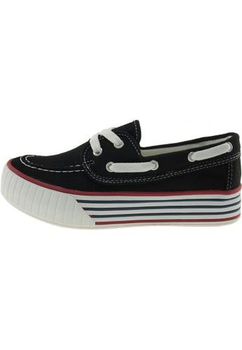 Maxstar 黑色 新款韩国鞋C30-Boat時尚帆布布混合女黑色 US Women Size MA345SH84GXRTW_1