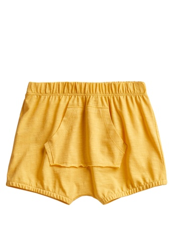 MANGO BABY yellow Sustainable Cotton Knitted Shorts EF943KA9704B36GS_1