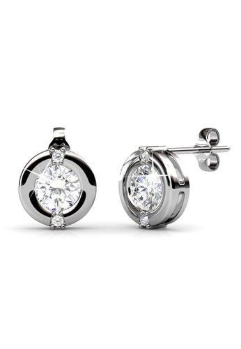 Her Jewellery silver Her Jewellery Classic Earrings (White Gold) with 18K Gold Plated 26443AC7DD82F8GS_1
