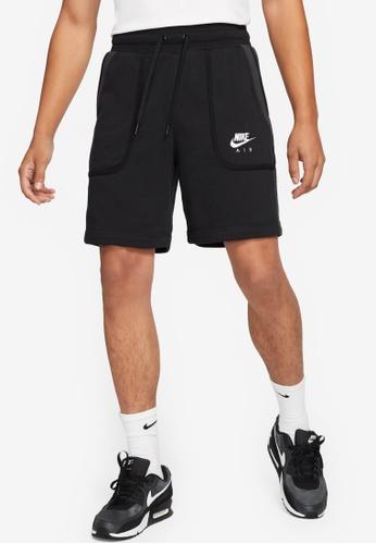 Nike black Men's Air French Terry Shorts 3234EAAC2A452BGS_1
