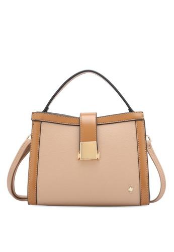 Swiss Polo 褐色 Push Lock Top Handle Sling Bag C4A74AC0A9BE19GS_1