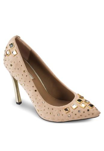 鑽石鉚釘細esprit台灣官網跟高跟鞋, 女鞋, 厚底高跟鞋