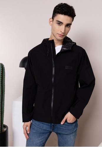 Guess black Alton Hooded Nylon Jacket B5C55AAA920231GS_1
