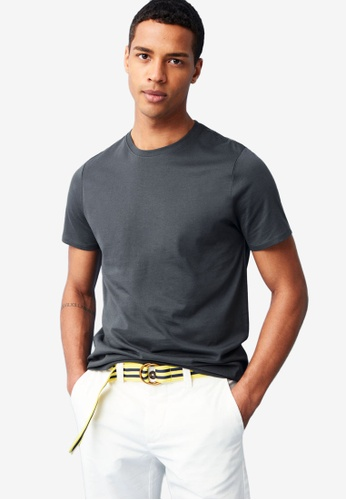 OVS grey Cotton T-Shirt 59265AACFD02F3GS_1