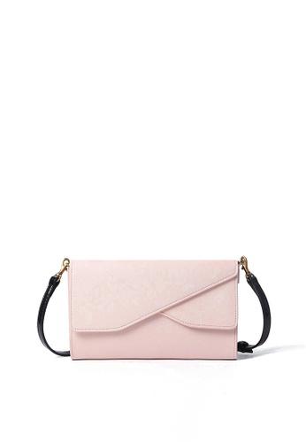 Rabeanco pink RABEANCO Strap Long Wallet - Saffiano Pink 512E7AC02C9192GS_1