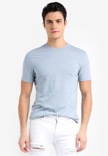 Topman blue Dusty Blue Marl T-Shirt 9FBD8AA9FF8B94GS_1