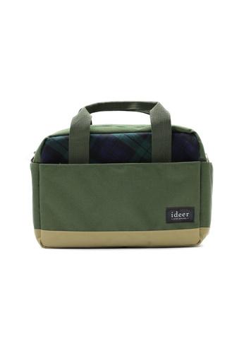 ideer green HARVEY KIWI 3 Way Tartan Camera Messenger Cross Bag ID960AC03OHOHK_1