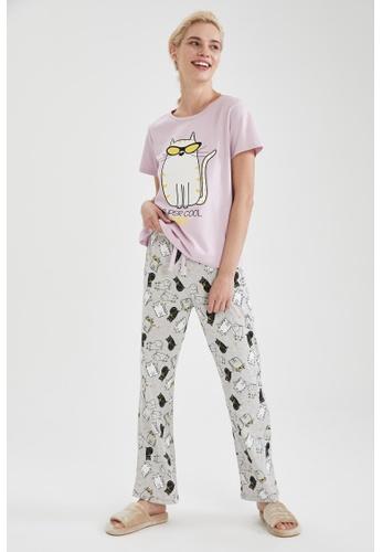 DeFacto grey Woman 2-pieces Homewear Top & Bottom Set F9544AA5633B8BGS_1