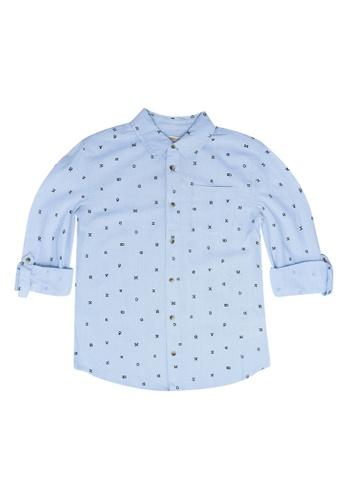 FOX Kids & Baby blue Printed Long Sleeve Shirt 757D5KABBA9D42GS_1