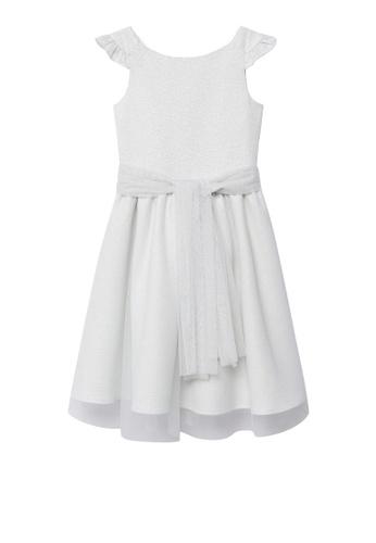 MANGO KIDS grey Lurex Tulle Dress 48BF4KA3D7B5A2GS_1