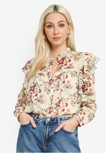 Pepe Jeans multi Anuska Floral Ruffle Blouse 123FBAA2757580GS_1
