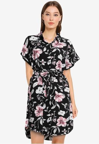 Vero Moda black Sahanna Shirt Dress B55CBAAB25AA33GS_1