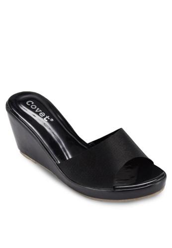 露趾楔形涼鞋, 女鞋, zalora時尚購物網的koumi koumi楔形涼鞋