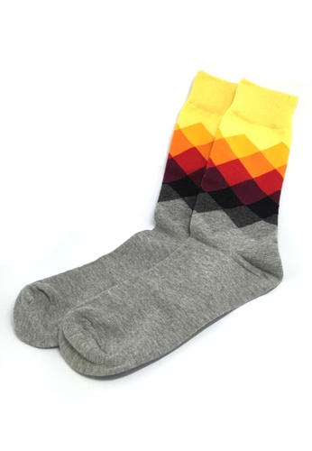 Splice Cufflinks multi Jewel Series Multi Colour Checked Design Socks SP744AA86JAZSG_1