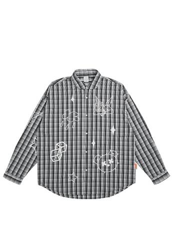 Twenty Eight Shoes Bear And Angel Printed Plaid Shirt 7025W21 A05ABAA33FDAE2GS_1