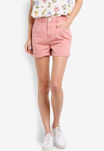 Dorothy Perkins pink Pink Denim Shorts DO816AA58HPXMY_1