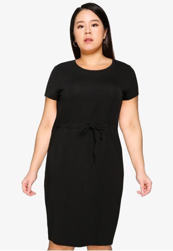 Vero Moda black Cotbelow Knee Dress D2AD9AAC2E5EEBGS_1
