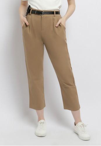 Just Out brown Hanessa Wallet Pants 896ECAA75EA334GS_1