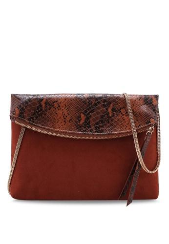 c07b1b539d Buy Dorothy Perkins Rust Snake Foldover Clutch Bag Online | ZALORA ...