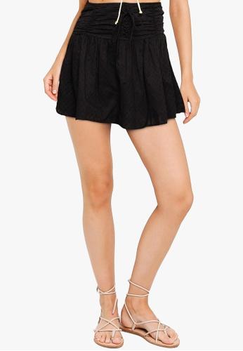 Cotton On black Woven Tie Front Mini Skirt A9E64AA17D2771GS_1