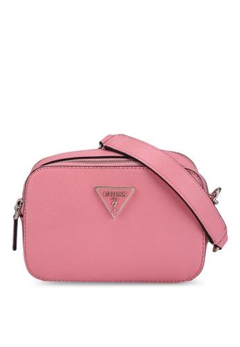 GUESS pink Noelle Crossbody Camera Bag D58ACAC492C033GS_1