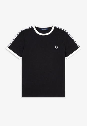 Fred Perry black M6347 - Taped Ringer T-Shirt - (Black) 6D58FAAA623481GS_1