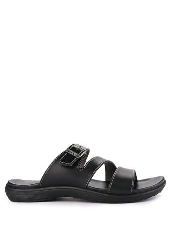 CARVIL black Sandal Casual Men London-03M 60BFBSH4A4D55FGS_1