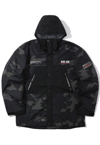:CHOCOOLATE black Colour-block patch jacket 7E842AA8052FE6GS_1