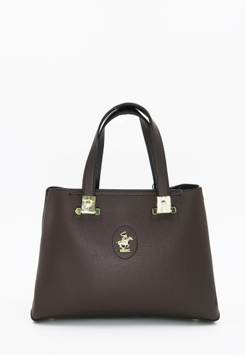 055152c9860e Beverly Hills Polo Club brown Premium S Tote Handbag 1FB82AC1365DA4GS 1