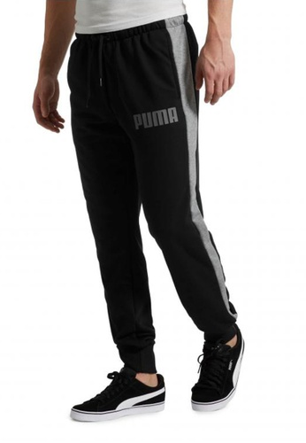 puma yellow Contrast Cuffed Knitted Men's Sweatpants 574D5AA853BAC5GS_1