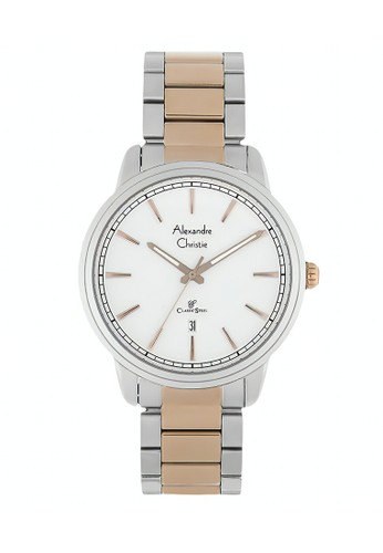 Alexandre Christie gold and silver Alexandre Christie Jam Tangan Wanita - Silver Rosegold White - Stainless Steel - 8556 LDBTRSL 79F74AC703E903GS_1