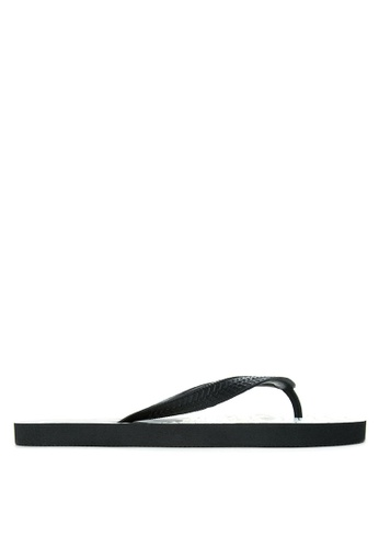 BENCH black Printed Rubber Slippers BE550SH11MBCPH_1