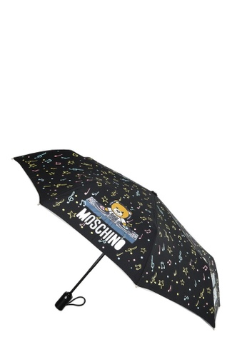 Moschino black and multi MOSCHINO Umbrella 34CCAAC643DF07GS_1