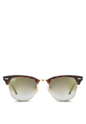 Ray-Ban brown Clubmaster RB3016 Sunglasses RA896GL02CYFMY_1