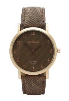 Jean Denim Leather Watch
