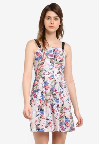 Megane red Orva Floral Print Dress ME617AA0S0VLMY_1