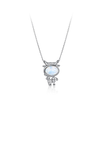 Glamorousky white 925 Sterling Silver Fashion Capricorn Pendant with Austrian Element Crystal and Necklace 2439DAC74A46D3GS_1